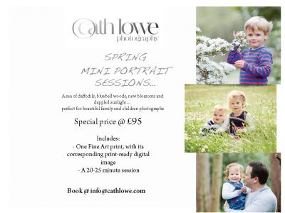 Update your Family Photos – Just a few Mini Portrait Sessions spaces left