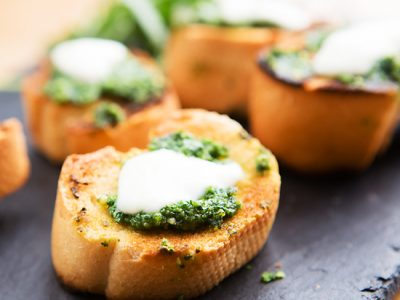 Rocket Pesto toasts